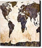 Abstract Earth Map Canvas Print