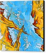Abstract Elements  Canvas Print by Pixel Chimp