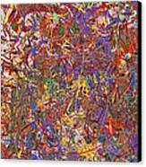 Abstract - Fabric Paint - String Theory Canvas Print by Mike Savad