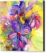 abstract Flower botanical watercolor painting print Canvas Print