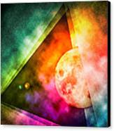 Abstract Full Moon Spectrum Canvas Print by Phil Perkins