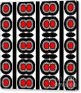 Pattern Black White Red Art No. 379. Canvas Print by Drinka Mercep