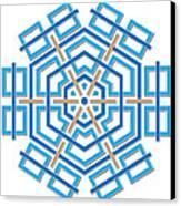 Abstract Hexagonal Shape Canvas Print