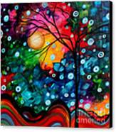 Abstract Landscape Colorful Contemporary Painting By Megan Duncanson Brilliance In The Sky Canvas Print by Megan Duncanson