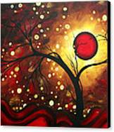 Abstract Landscape Glowing Orb By Madart Canvas Print