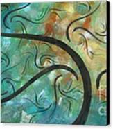 Abstract Landscape Painting Digital Texture Art By Megan Duncanson Canvas Print by Megan Duncanson