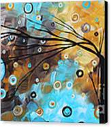 Abstract Painting Chocolate Brown Whimsical Landscape Art Baby Blues By Madart Canvas Print