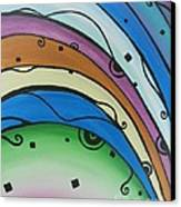 Abstract Rainbow Canvas Print by Juan Molina