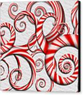 Abstract - Spirals - Peppermint Dreams Canvas Print