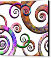 Abstract - Spirals - Planet X Canvas Print