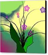 Abstract Violets Canvas Print by GuoJun Pan