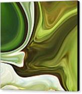 Abstraction With Emerald Orb Canvas Print by Chad Miller
