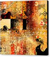 Abstracture - 103106046f Canvas Print by Variance Collections
