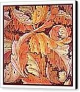 Acanthus Vine Design Canvas Print by William Morris