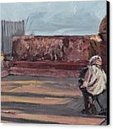 Accordion Man Of Old San Juan Canvas Print