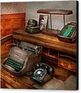 Accountant - Typewriter - The Accountants Office Canvas Print