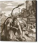 Achelous In The Shape Of A Bull Canvas Print by Bernard Picart