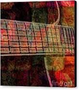Acoustic Palette Digital Guitar Art By Steven Langston Canvas Print by Steven Lebron Langston