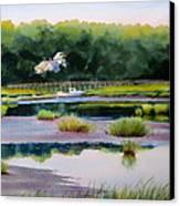 Across Duck Creek Canvas Print by Karol Wyckoff