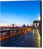 Across The Bridge Canvas Print by Daniel Chen