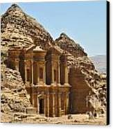 Ad Deir In Petra Canvas Print