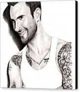 Adam Levine Canvas Print