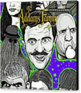 Addams Family Portrait Canvas Print by Gary Niles