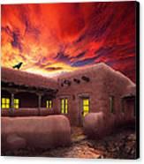 Adobe Sunset Canvas Print by Ric Soulen