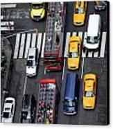 Aerial View Of New York City Traffic Canvas Print