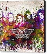 Aerosmith In Color Canvas Print by Aged Pixel