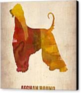 Afghan Hound Poster Canvas Print by Naxart Studio