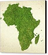 Africa Grass Map Canvas Print
