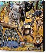 African Collage Canvas Print by Cynthie Fisher