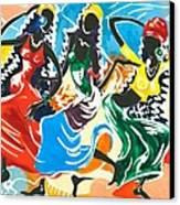 African Dancers No. 2 Canvas Print by Elisabeta Hermann