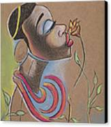 African Girl Canvas Print by Chibuzor Ejims