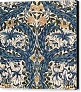 African Marigold Design Canvas Print by William Morris