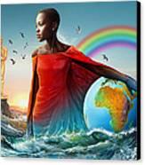 The Lupita Tsunami Canvas Print by Anthony Mwangi