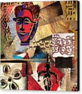 Afro Aesthetic B Canvas Print by Everett Spruill