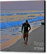 After A Long Day Of Surfing Canvas Print by John Malone