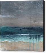 After The Storm- Abstract Beach Landscape Canvas Print