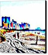 Afternoon At The Beach Canvas Print by Angelia Hodges Clay