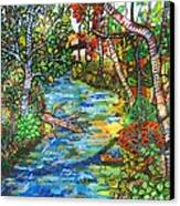 Afternoon At The Creek Canvas Print by Deborah Glasgow