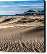Agate Beach Dunes And Yaquina Head Light Canvas Print by Greg Stene