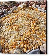 Agate Rock Garden Art Prints Coastal Beach Canvas Print by Baslee Troutman