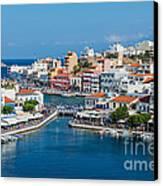 Agios Nikolaos Town Canvas Print