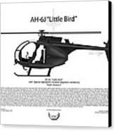 Ah-6j Little Bird Canvas Print