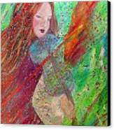 Aiden The Girl On Fire Canvas Print by The Art With A Heart By Charlotte Phillips