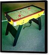 Air Hockey Table Canvas Print by Les Cunliffe