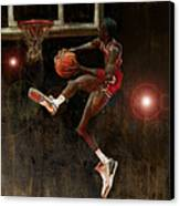 Air Jordan Canvas Print by Jumaane Sorrells-Adewale