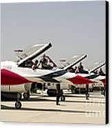 Airmen Conduct Preflight Preparations Canvas Print by Stocktrek Images